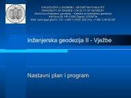 presjek lukova - Geodetski fakultet - Sveučilište u Zagrebu