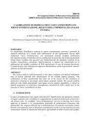 ISTRUZIONI PER LA PREPARAZIONE - Ingegneria strutturale e ...