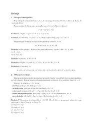 Relacje - Wydział Matematyki i Informatyki