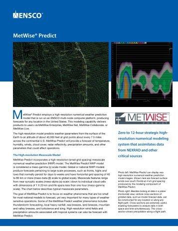 MetWise® Predict – Zero to 12-hour strategic high-resolution ...