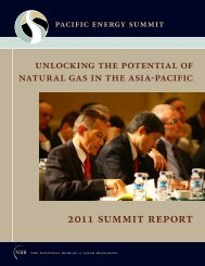 2011 Pacific Energy Summit Report - The National Bureau of Asian ...