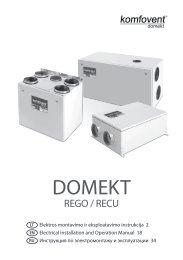Elektros montavimo ir eksploatavimo instrukcija - komfovent