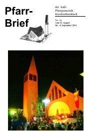 Pfarrbrief Nr. 11 - Pfarrei Kirchenthumbach