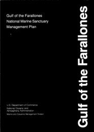 Management Plan - Gulf of the Farallones National Marine ...