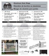 Charnière de barrière en aluminium Bisagra de aluminio para ...