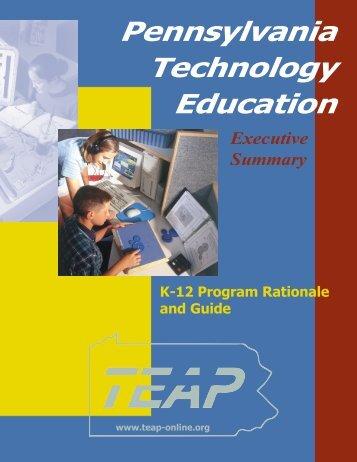 K-12 Program Guide Executive Summary - TEEAP!