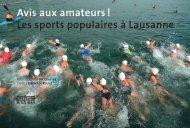 Avis aux amateurs ! Les sports populaires à Lausanne
