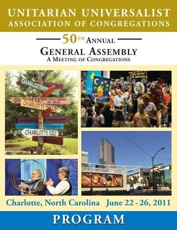 Program - Unitarian Universalist Association of Congregations