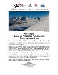 backgrounder - Ski Banff-Lake Louise-Sunshine
