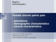 Female chronic pelvic pain - prevalence - demographic ...