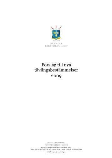 Förslag till nya TB 2009 090624.pdf - Svenska Fäktförbundet