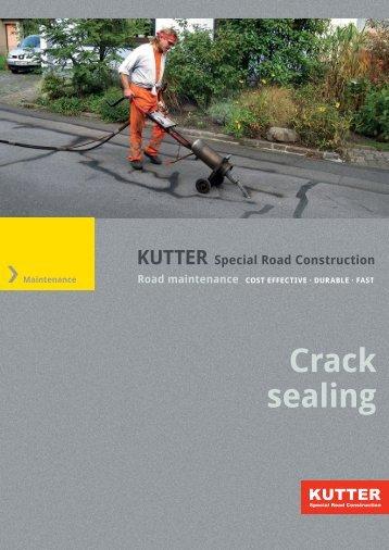 Crack sealing