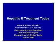 Hepatitis B Treatment Today - Asian Liver Center - Stanford University