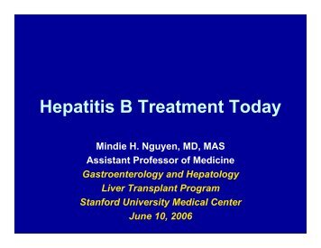 Hepatitis B Treatment Today - Asian Liver Center - Stanford University