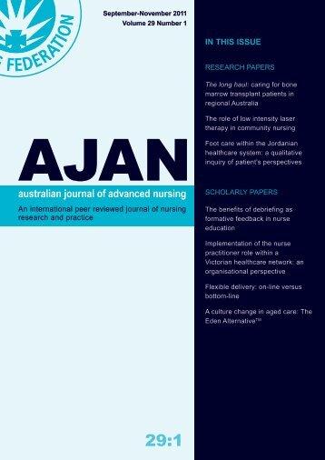 in this issue - Australian Journal of Advanced Nursing