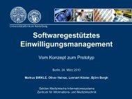 Softwaregestütztes Einwilligungsmanagement