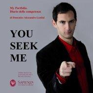 YOU SEEK ME - Dipartimento di Comunicazione e Ricerca Sociale ...
