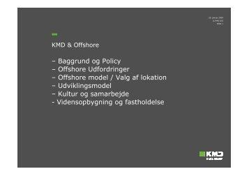 – Baggrund og Policy – Offshore Udfordringer – Offshore model ...