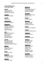 1 1 ASSEGNAZIONE TESI (4-20 ottobre 2006) AGNOLI DELLAI ...