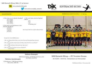 Ausgabe 2: 6. Spieltag, Saison 2013/2014 - DJK Eintracht Hiltrup