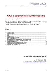 analisi di una struttura in muratura esistente - AEdiS studio Dellai e ...