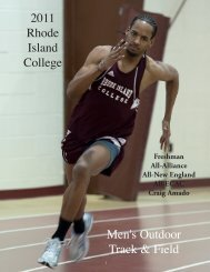 The 2011 Rhode Island College Men's Outdoor Track & Field Roster