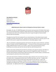 FOR IMMEDIATE RELEASE Media Contact: Jessica Sciacca ZOOM ...