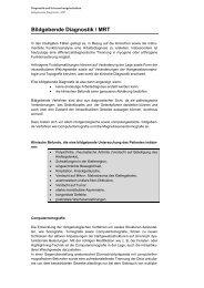 Bildgebende Diagnostik / MRT