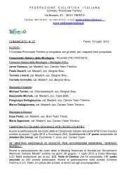 Comunicato n°27 del 19 luglio 2012 - SporTrentino.it