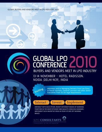 ABouT KPo ConsuLTAnTs - Global LPO Conference 2010