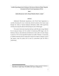 1 Analisis Kepentingan Special Safeguard Mechanism Indonesia ...