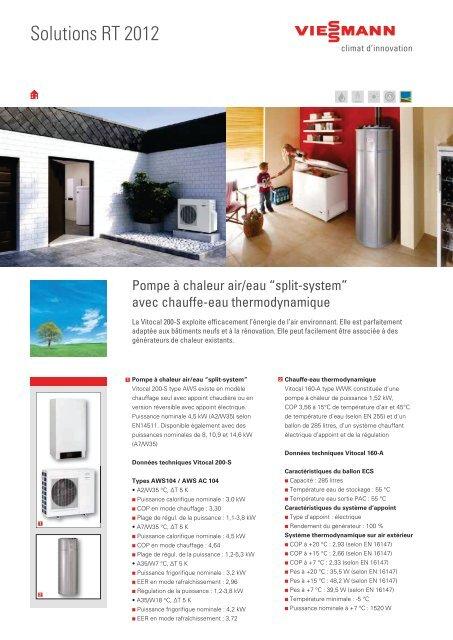 """Pompe à chaleur air/eau """"split-system"""" - Viessmann"""