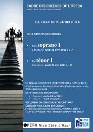 • Une soprano I • Un ténor I - Opéra de Nice