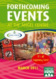 Forthcoming Events March 2011 - Angel Centre