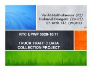 rtc upwp 5020-10/11 truck traffic data collection project