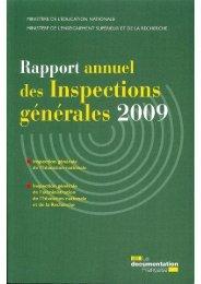 rapport 2009 - La Documentation française
