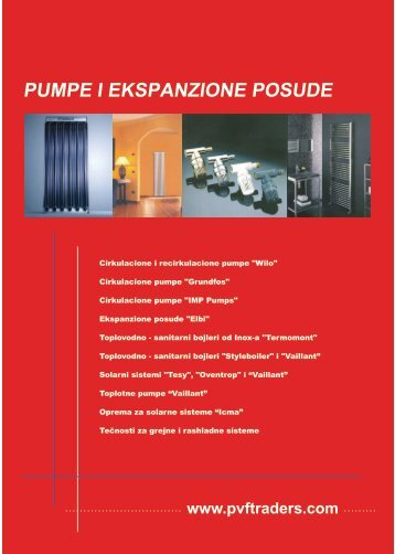 Pumpe i ekspanzione posude - PVF Traders