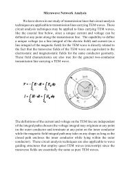 Microwave Network Analysis We have shown in our study of ...