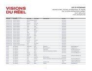 LIST OF ATTENDANCE - Visions du Réel