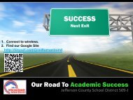 Our Road to Academic Success - Cosa