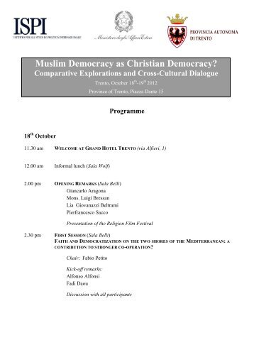 Muslim Democracy as Christian Democracy? Comparative ...