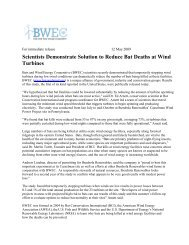 BWEC Operational Curtailment Study Report Released 5-12-09