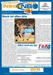 Eisvögel USC Freiburg - New Basket 92 Oberhausen