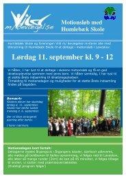 Lørdag 11. september kl. 9 - 12 - Humlebæk Skole
