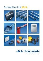 Produktübersicht 2014 - tousek GmbH