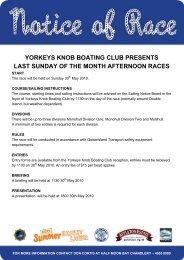 yorkeys knob boating club presents last sunday of the month ...