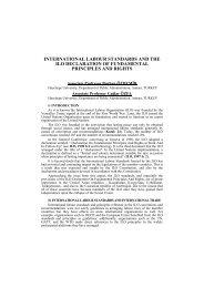 international labour standards and the ilo declaration