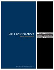 2011 Best Practices for Proxy Circular Disclosure - the Canadian ...
