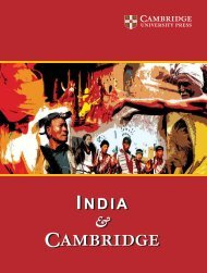 India & Cambridge - Cambridge University Press India