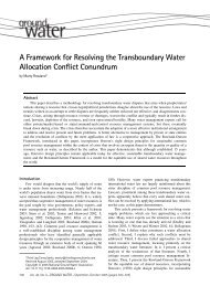 A Framework for Resolving the Transboundary Water Allocation ...